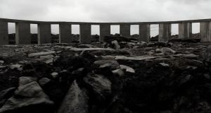 The Stonehenge-like structure on Achill