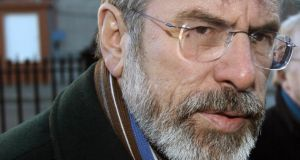 Gerry Adams says that former colleagues who accuse him of having ordered the death of Jean McConville are driven by hostility to the peace process