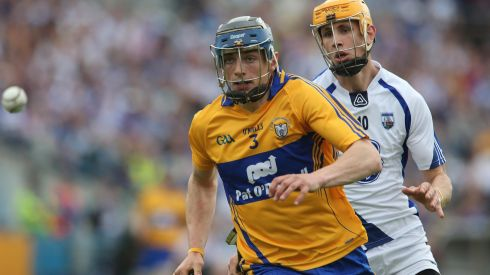 2013 GAA/GPA Hurling All-Star No 4: Clare's David McInerney escapes Maurice Shanahan of Waterford. The All Ireland champions have 8 players in the All Star team. Photograph: Lorraine O'Sullivan/Inpho