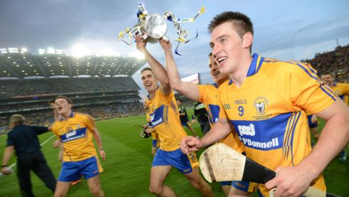2013 GAA/GPA Hurling All-Star No 9: Clare's Conor Ryan (right) celebrates victory over Cork  at Croke Park  after winning the  All Ireland Hurling Final replay in September. Photograph: Alan Betson/The Irish Times