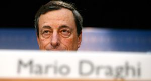 Mario Draghi, president of the European Central Bank, pictured earlier this year. Photograph: Ralph Orlowski/Bloomberg