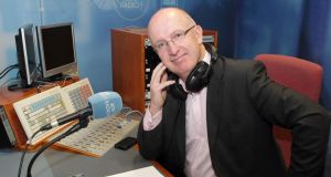 Back behind the mic: John Murray in the studio on Monday. Photograph: Brian McEvoy