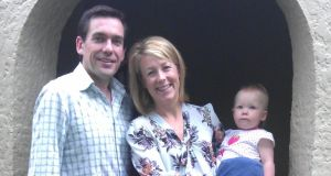 Irish in Australia: Clodagh and Jonathan Logue with their youngest child, Eleanor, in Sydney
