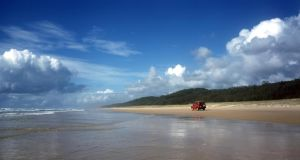 Antipodean idyll: the laid-back lifestyle and the beautiful beaches, such as on Fraser Island in  Queensland, attract Irish people to Australia. Photograph: Tourism Australia
