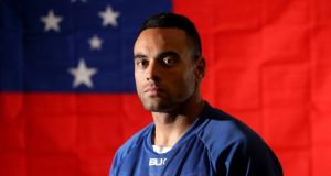 Samoan scrumhalf Kahn Fotuali'i will captain the side against Ireland. Photograph: James Crombie/Inpho