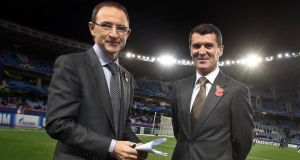 New team: Martin O'Neill and Roy Keane. Photograph: Donall Farmer/Inpho