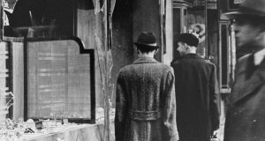 Kristallnacht: the smashed window of a Jewish-owned shop in Berlin after the riots of the night of November 9th, 1938. Photograph: Hulton/Getty