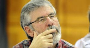 Gerry Adams:  is still sufficiently powerful and totemic to go when he wants to go