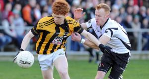Kilcoo's Paul McKeown and Crossmaglen's Daryl Brannigan will meet again in an  Ulster SFC quarter-final replay. Photograph: Inpho
