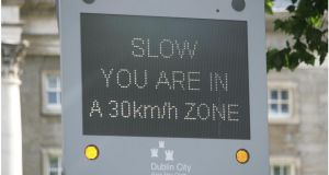 The reduction in the speed limit from 50km/h to 30km/h in Dublin city centre  has failed to reduce traffic speeds