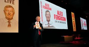 Alex Ferguson picutred in the Convention Centre, Dublin, where he launched his book.