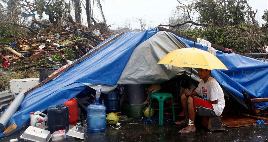 Typhoon aftermath in Philippines