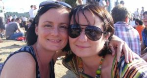 Vivienne Maher (right) with her sister Jayne: 'We enjoy trying different cuisines at festivals – the whole experience is like a giant picnic'