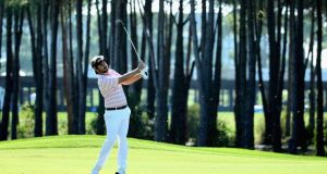 Victor Dubuisson of France in action during the final round of the 2013 Turkish Airlines Open  in Antalya, Turkey. Photograph: Warren Little/Getty Images