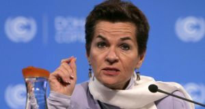 "Christiana Figueres: told to ""pick clean energy over dirty fossil fuels"". Photograph: Karim Jaafar/AFP/Getty Images"