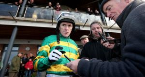 Tony McCoy: received a warm welcome from punters at Navan racecourse