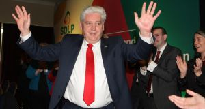 SDLP Leader Dr Alasdair McDonnell after addressing the party conference in Armagh.