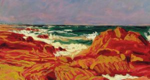 A section of Roscommon-born artist Roderic O'Conor's Red Rocks, Brittany, which has a top estimate of £120,000 – down from £250,000 in 2011.