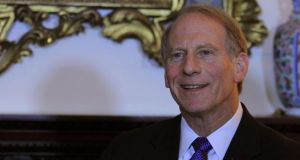 A file image of former US diplomat Dr Richard Haass during a press conference at the Department of Foreign Affairs on St Stephen's Green, Dublin, last month. Photograph: PA