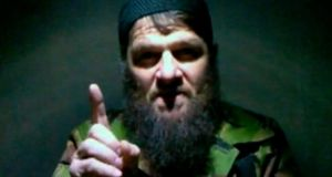A screengrab of Chechen warlord Doku Umarov who says he ordered the attack on Domodedovo airport in Russia on January 24th, 2011, as part of an Islamist insurgency against Russian rule of the North Caucasus.