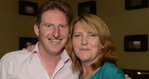 Adrian Dunbar with the playwright Janet Behan, niece of Brendan