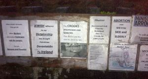 Some of the posters put up in Limerick recently.