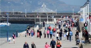 The pier at Dún Laoghaire: A business improvement district scheme is being proposed by a group of  businesses in the town. Photograph: Dara Mac Dónaill