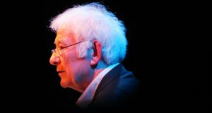 More than 1,000 people attended a memorial service to the late poet Seamus Heaney in New York last night. Photograph: Bryan O'Brien/The Irish Times.