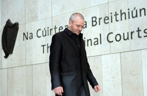 Former solicitor Thomas Byrne (47), of Walkinstown Road, Crumlin, leaving the Dublin Circuit Criminal Court during his trial. He pleaded not guilty to charges of theft and fraud. Photograph: Eric Luke/The Irish Times