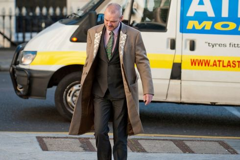 Thomas Byrne arriving at court on Thursday November 8th. Photograph: Collins Courts