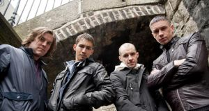 Peter Coonan, Robbie Sheehan, Tom Vaughan Lawlor and Killian Scott in 'Love/Hate'.