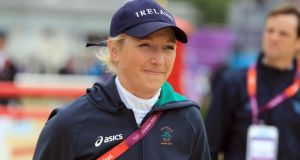 Joint  Irish Times /Irish Sports Council Sportswoman of the Month for October Aoife Clarke rode  her horse Fernhill Adventure to  win silver at the World Breeding Federation of Sport Horses Championships in France, the best performance by an Irish rider in the event's 25-year history  of the event . Photograph: Dan Sheridan/Inpho