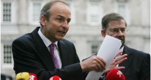 Up to 6,000 people are cancelling their private health insurance monthly, Fianna Fáil leader Micheal Martin has said. Photograph: Bryan O'Brien/The Irish Times.