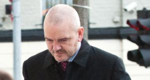 Former Solicitor Thomas Byrne (47) outside the  Dublin Circuit Criminal Court. Mr   Byrne has pleaded  guilty to charges of theft and fraud from clients to the value of €50 million. Photograph: Collins