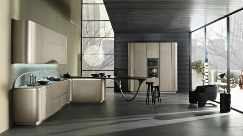 CELEBRITY X FACTOR Ola 20 is the Snaidero kitchen designed by Pininfarina that wowed actor Brad Pitt who recently bought it for its smooth rounded lines of  corners and countertop extension that turns into a table with a sculptural base. It comes in 20 colours in two finish options: matte lacquer and mica paint used by the car industry that make the surfaces look cleaner, brighter and reflective without being shiny. On trend is the oil blue option. Brad Pitt bought it in Nordic white. As seen here it costs €35,000, including worktops from Upper Fitzwilliam Street-based porterandjones.com.