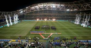 Ireland make their way out to face Samoa last weekend at the Aviva Stadium.