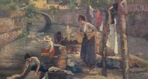 'Women Washing Clothes In A Canal' by Walter Osborne was withdrawn from the auction