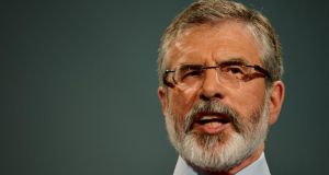 Gerry Adams: Building bridge would be relatively small investment with significant potential. Photograph: Alan Betson