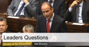Fianna Fáil leader Micheal Martin  struck the wrong note when carping at the Government today.
