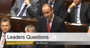 Micheál Martin speaking in the Dáil