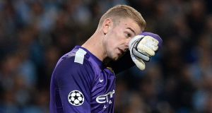 Goalkeeper Joe Hart will not start England's international against Chile at Wembley on Friday. Photograph: Martin Rickett/PA Wire