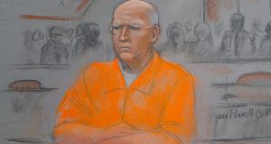 A courtroom artist's sketch shows convicted mobster James 'Whitey' Bulger in federal court during the first of two days of his sentencing hearing in Boston, Massachusetts yesterday. Bulger was handed two consecutive life sentences plus five years in prison for his crimes today. image: Jane Collins/Reuters