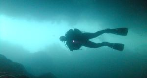 Underwater adventures: diving at the Blue Pool, near Doonbeg, Co Clare. Photograph: Tony Hanrahan