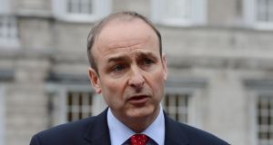 "Fianna Fáil leader Micheál Martin: ""It is urgent that the Government indicates it has a grip on this issue."""