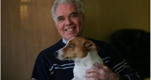 Peter McVerry and his dog Jack who are joined by Smokey for their evening walks. Photograph: Bryan O'Brien