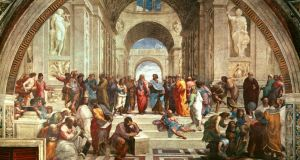 A plethora of philosophers: 'The School of Athens' (1509-10), one of Raphael's series of  frescoes (1509-1510)  in the Apostolic Palace in the Vatican