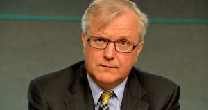 EU commissioner  Olli Rehn:   warned  Spain that its budgetary plans may not be sufficient to meet its budget deficit target of 2.5% next year. Photograph: David Sleator/The Irish Times