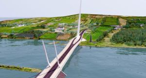 Artist's impression of the Narrow Water bridge to link south Down with the Cooley peninsula in Co Louth.