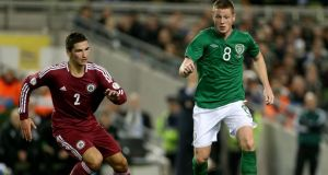 Republic of Ireland's James McCarthy during last night's friendly. Photograph: Brian Lawless/PA