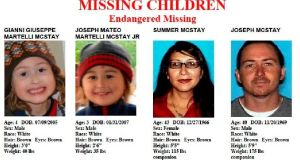 Images provided by the San Diego Police Department of members of the McStay family, who disappeared in 2010.